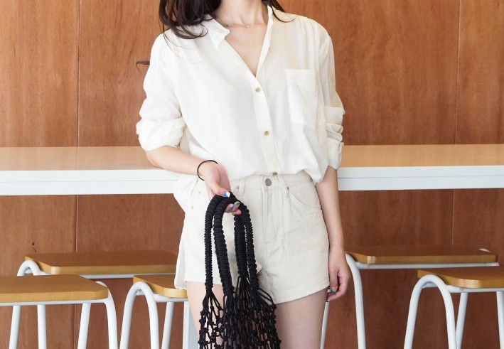 light shirring blouse