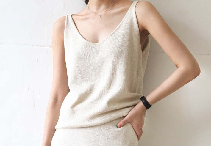 linen knit two-piece