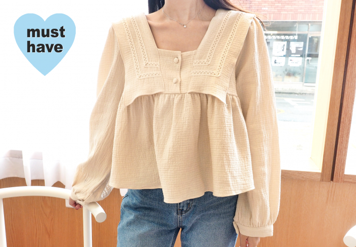 soft crop blouse