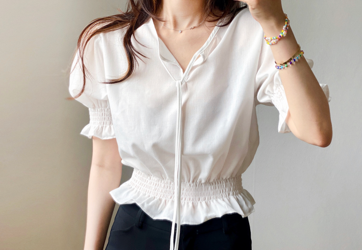frill smock blouse