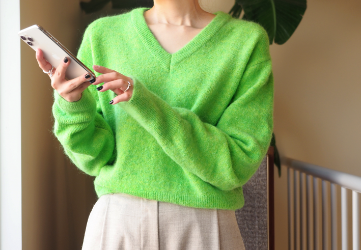 vivid kid-mohair knit
