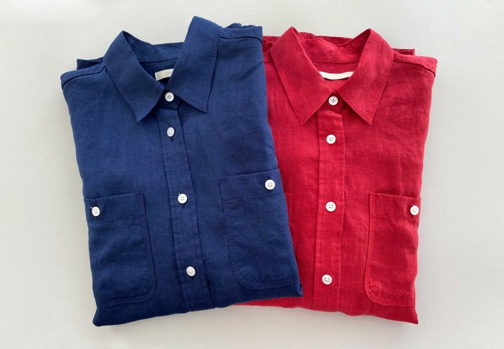 pocket linen shirts